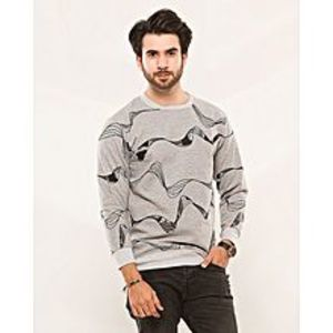 Contessa Gray Winter Fleece Sweat Shirt for Men