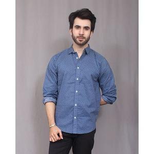 Blue Polka Dotted Shirt