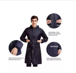 New Mens Womens Waterproof Raincoat Long Trench Unisex Rain Coat Jacket Adults