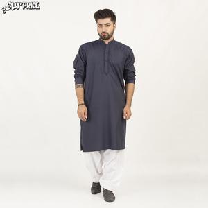 Cut Price Dark Shades Kurta Stitched Karhai for Men Dark Navy Blue