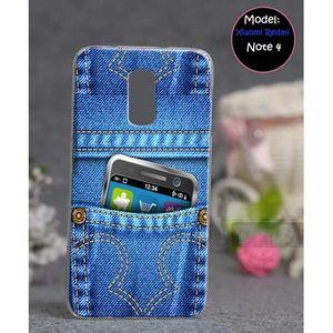 Xiaomi Redmi Note 4 Mobile Cover Jeans Style - Blue