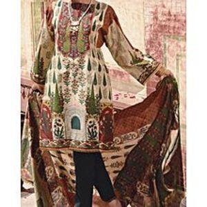 AlmirahIVORY LAWN 3pcs Unstitched Suit for Women