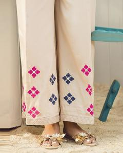 Bonanza Satrangi - Beige Viscose Ladies Trouser - LTS-275-12