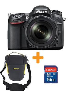 Nikon D7100 DSLR Camera with 18-140mm Lens + 16GB Card & Bag - Black