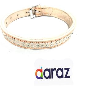 Pure Leather Fancy collar for Dogs -M size