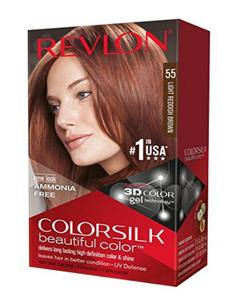 Color Silk 3D Technology USA For Men and Women No 55 Light Reddish Brown