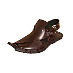 HRH fashion Brown Leather Stylish Peshawari Sandal For Men