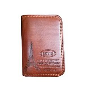 BovisDark Brown Long Leather Wallet for Men