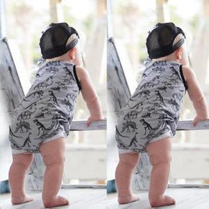 Rainbowroom 2019 Newborn Infant Baby Girl Boy Dinosaur Romper Jumpsuit Outfits Clothes Set