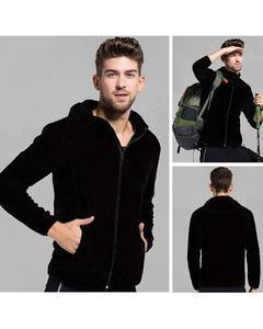 Black Fleece Hoodie For Men