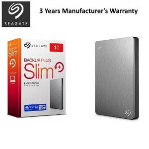 Seagate STDR1000301 - 1TB Backup Plus Slim Portable External Hard Drive - Silver
