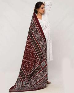 Multicolor Printed Sindhi Ajrak Shawl For Women