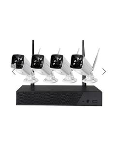 Wifi 4 Channel Nvr With 4 Wifi Cameras Day Night Vision Indoor Outdoor Use