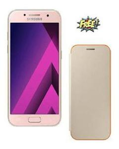 "Galaxy A3 - 4.7"" - 2GB - 16GB - 13MP - Pink  + Free Samsung Neon Flip Cover Case"