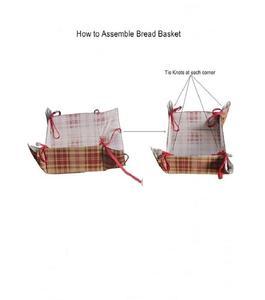 Square shape foldable Roti/bread/Snaks/cookies basket