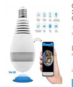 Camera Bulb Light FishEye Smart Home CCTV 3D VR Camera 1.3MP Home Security WiFi Camera