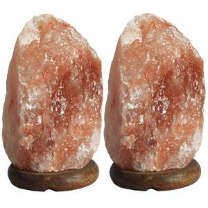 Pack of 2 Small(1.5Kgs) Size Himalayan Salt Lamps (without wire & bulb) for Home decoration, Night Light, Asthma & Allergy Patients to Clean room Atmosphere