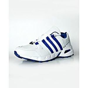 BEST OFFERS White and Blue Gripper Shoes for Cricket