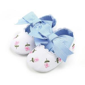 Lovely Girls Princess Shoes Soft Bottom Soled Non-slip Anti-skid Toddler Shoe White 11cm