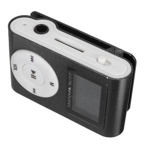 Mini Practical USB Clip MP3 Player 32GB Micro SD Card LCD Radio Music Media  Black