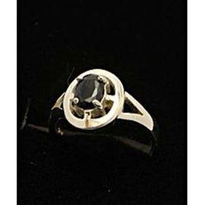 Gilgit BazarSapphire Stone Silver Ring GB(5)4910