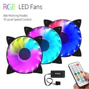 【 Flash Deal】3PCS RGB Adjustable LED Cooling Fan 120mm With Controller + Remote For Computer