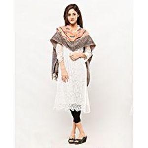 Misbah's StylePeach & Blue Pashmina Shawl