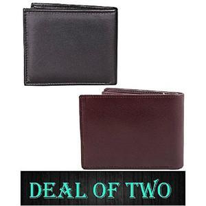 Leather Wallet For Men BLACK & BROWN