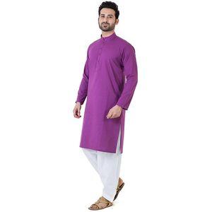 Bonanza Satrangi Purple Cotton Mens Kurta - 24144