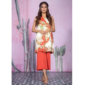 Alkaram studio Spring Summer Collection 2020 Vol I Orange Lawn 2 Piece Suit For Women -A132225664