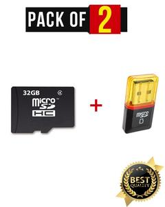 32GB Memory Card / Micro SD Card + Card Reader- Mobile App Performance A1