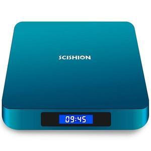 Android 8.1 TV Box 2GB RAM + 16GB ROM 2.4G WiFi USB3.0 BT4.0 Voice Control US Plug - Glacial Blue Ice