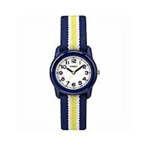 TimexWhite & Blue Fiber Analog Watch For Kids