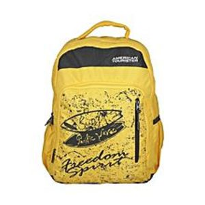 American Tourister Pack of 2 - At Pop I Backpack + Pencil Case - Honey Yellow