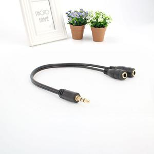 Amazing  AUX Audio Cable Line 3.5mm Plug to 2 Stereo Socket Spliter Headphones Speakers