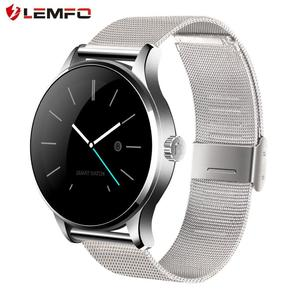 LEMFO K88H Pedometer Heart Rate Monitor Smart Watch for iOS for Android Black