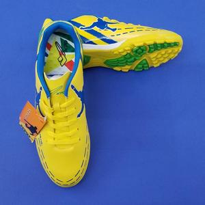 XPD Football Shoes For Men -  Yellow/Royal Blue - Strong Football Shoes For Men
