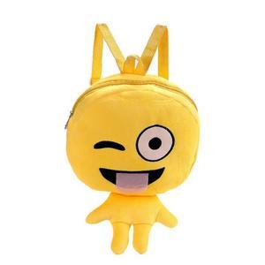 MissFortune Cute Emoji Emoticon Shoulder School Child Bag Backpack Satchel Rucksack Handbag