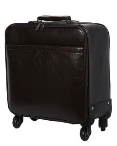 Crew / Laptop Trolley Bag PU Leather - Brown