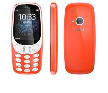 Nokia 3310 - Dual Sim - 2.4 inch Screen Qvga Display 16MB - 2 MP Camera-Orange-Without Warranty