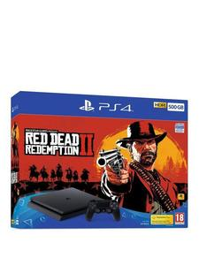 PlayStation 4 Slim Red Dead Redemption 2 Bundle - 500 GB