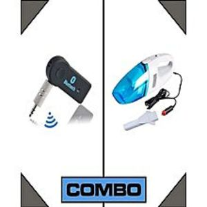 bigshopCombo of Car 1 Bluetooth Music Receiver + 1 Vacuum Cleaner