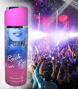 Club 21 Rock in Rio Imported Perfumed Frangance Deodorant Body Spray for Girls Women Special Gift - 200 ml