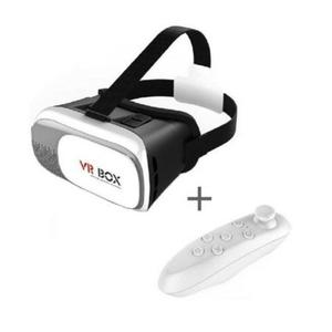 Box Virtual Reality 3D Glass With Remote-Black and White