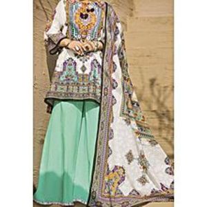 AlmirahWhite LAWN Stitched Suit