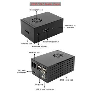 Raspberry Pi 3 Model B+/3B/2B X850 V3.0 Metal Case with Cooling Fan Kit