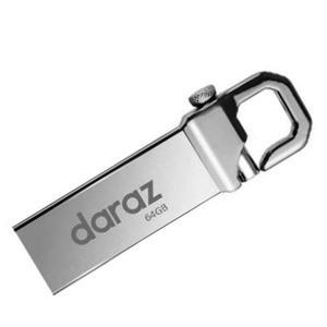 Daraz 64GB USB Flash Drive Stain Steel Pen Drive USB Good Quality High Speed