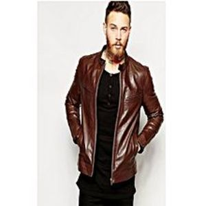 Netflix Dark Brown Stylish Casual Leather Jacket