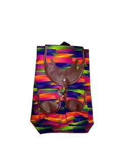 FANCY SCHOOL AND COLLEGE BAG- RAINBOW COLOR