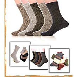 SIK Collection Pack of 12 - Multicolored Cotton Winter Warm Socks for Men